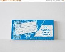 SALE Eureka Parcel Post Labels Gummed Labels Shipping Labels Label Booklet