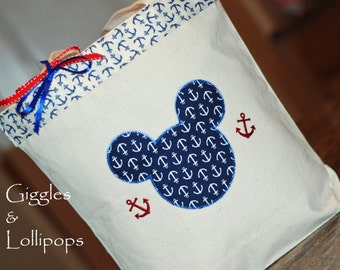 Personalized Custom Canvas Disney Cruise tote autograph tote mickey