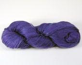 TL Blurple Yarn: 65/35 Tussah Silk/Linen Light Fingering or Heavy Lace Hand-Dyed Yarn (720y/658m/110g) CW186