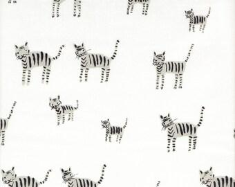 Cotton + Steel Black & White Tiger Stripes - Half Yard