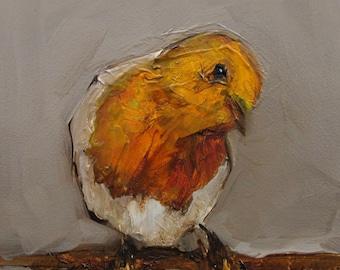 ROBIN  BIRD Colette W. Davis 4x4 Art Giclee print