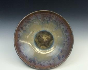 Multi Color Crystalline Glazed Serving Bowl