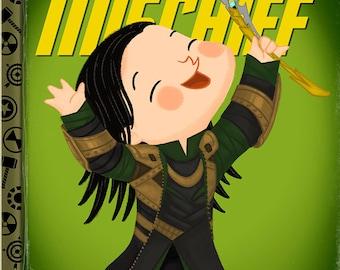 The Little God of Mischief - 8x10 PRINT