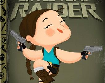 The Little Tomb Raider - 8x10 PRINT