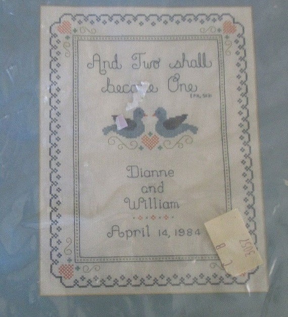 wedding sampler cross stitch kit janlynn 43 1 sealed kit