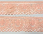 "Peach 1.5"" lace -  over 5 yards"