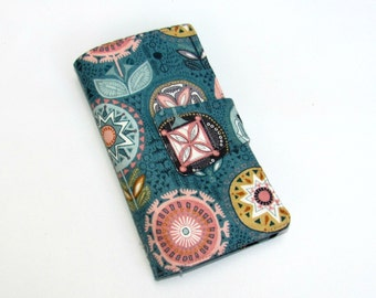 Cellphone iPhone or iPod Wallet,Cellphone Case, Business Card organizer, Loyalty card wallet, Gift Card Holder Ready to Ship