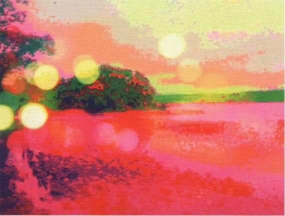 Digital print on canvas- Fiery Hudson River by Gretchen Kelly