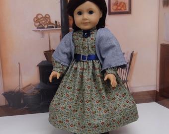 Pioneer Autumn - Civil War or Prairie dress for American Girl doll