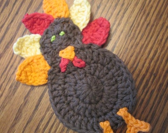 Small Crochet Turkey Applique
