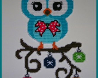 Christmas Decorated Owl #2 Wall Hanging