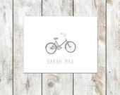 Personalized Vintage Bicycle Folded Note Cards