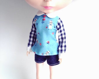 Blouse and shorts set (sailors) for Blythe