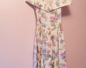 Vintage Dress - Tea Length Floral 80s Bridesmaid Prom Gunne Sax NWT's