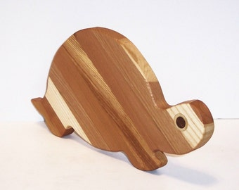 Turtle Cutting Board Handcrafted form Mixed Hardwoods