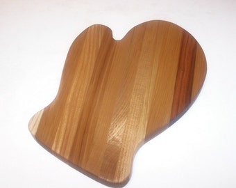 Mitten Cutting Board Handcrafted from Mixed Hardwoods