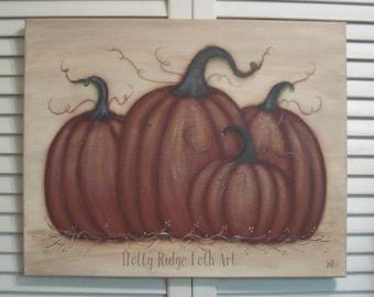 Pumpkin, Handpainted, Canvas, Picture, Pumpkins, Fall, Thanksgiving