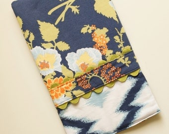 Oven Mitt - Hot Pad Bold Bouquet in Blue