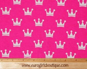 Pink crowns princess knit 1/2 yard
