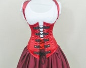 """Clearance Ringmaster military steampunk halter corset-to fit 31-33"""" natural waist"""