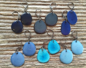 One pair of earrings - you pick shade of blue