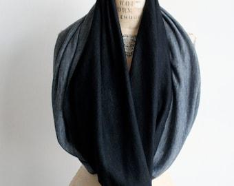 Sale Cowl Scarf Black Gray Wool, Winter accessories