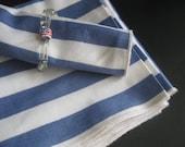 Nautical Striped Napkins Set of 8 Vintage