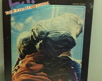 Vintage E T Puzzle Extra Terrestrial 15 Piece Puzzle 1982