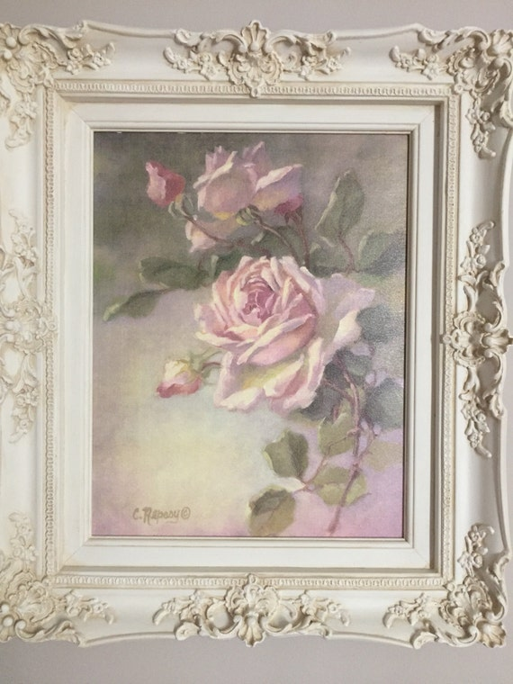 Vintage Rose Study By Christie Repasy Winter White Ornate