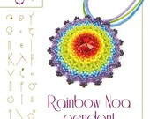Beading tutorial / pattern Rainbow Noa pendant with delica beads. Beading instruction in PDF – for personal use only