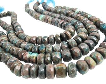 Oregon Opal Beads, Faceted Rondelles, Oregon Opal Rondelles, SKU 4205A