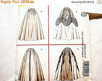 Sewing Pattern SALE Historical Womens Medieval Renaissance Costume Pattern Skirt Costumes Misses Adult size 10 12 14 16 UNCUT
