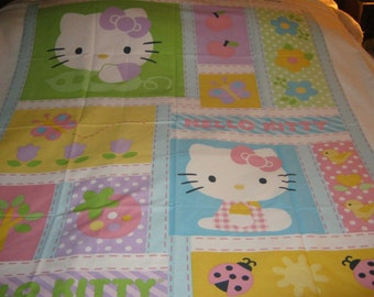 Hello Kitty Cotton Quilt Panel To Make Your Own Quilt