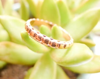 Copper Textured Granular Band Size 7 Jewelry Making Rings