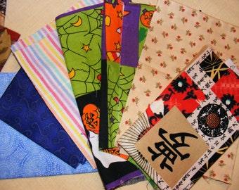 Beautiful selection of fabric scraps