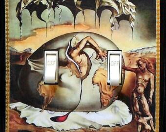 Dali art Switchplates & MATCHING SCREWS- Dali wall plate Salvador Dali art Dali painting Dali art print surrealistic art painting Dali plate