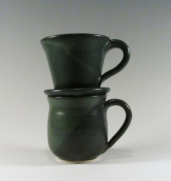 Pour Over Coffee Maker Ceramic Coffee Cup Brewer Blue