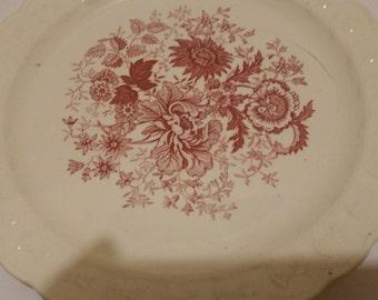 6 TST red center bouquet salad plates