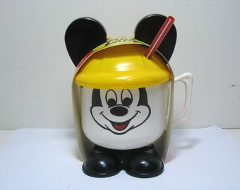 Vintage Mickey Mouse Fun Mug MIP Still in Originla Packing Disney Tippy Cup