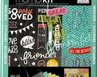 Friends Memories Scrapbook Mini Album Page Kit, 8x8, BFF Mambi, Soft Spoken, Me & My Big Ideas, Stickers Paper