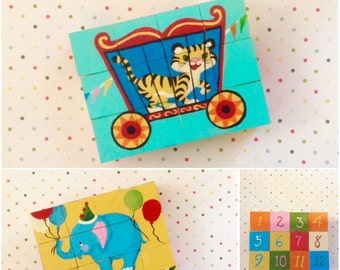 Three Puzzles in One/Circus Puzzle/Wooden Puzzle