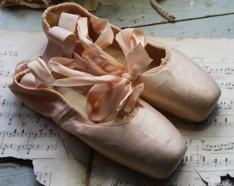 Pink Satin BALLET SHOES- Ballerina- Pointe Shoes- Ballet Maker USA Dance Shoes