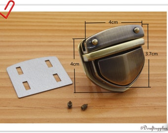 4cm Anti bronze tongue lock for Purse clutch lock closure N51