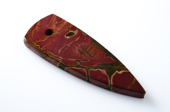 Cherry Creek Jasper Shield Pendant