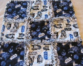 Star Wars  Baby Boy Security Rag Quilt Blanket 22x22
