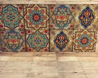 Hamsa Wall Decor hamsa wall art set old moroccan wall art moroccan blocks set