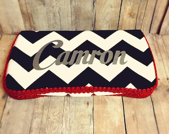 Personalized wipes case monogrammed baby wipes personalized monogrammed personalized baby wipe case black chevron wipe case red baby gift baby room decor personalized negle Images
