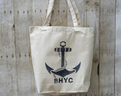 Extra Large Canvas Totes with Anchor Custom Listing for Megan