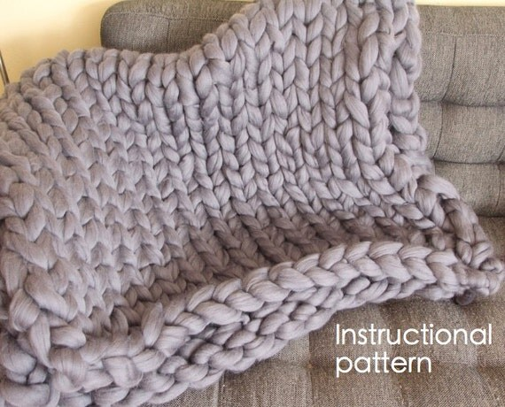 Giant Knitting Blankets : Giant knit blanket pdf pattern