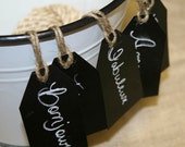 Rustic Chalkboard Tags with Jute String Perfect for Wedding Decor